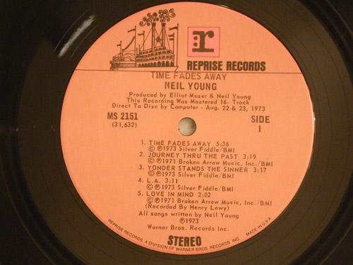 "NEIL YOUNG ""TIME FADES AWAY"" US original"
