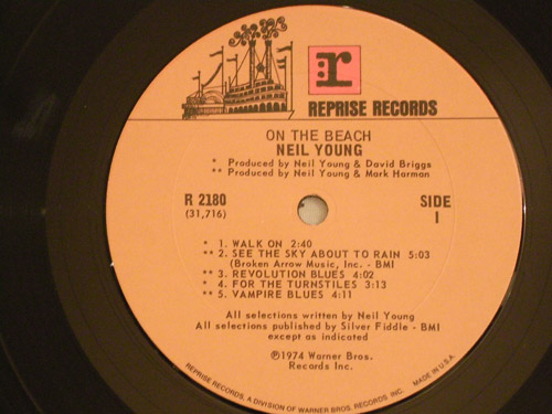 "NEIL YOUNG ""On the Beach"" US original"