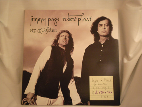 "jimmypage-robertplant-""NO QUATER""-UK original"