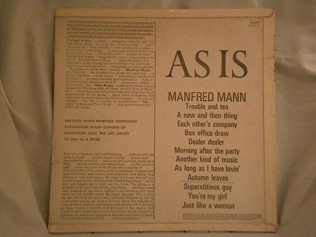 """MANFRED-MANN-""""AS-IS""""-UK-original-mono!"""