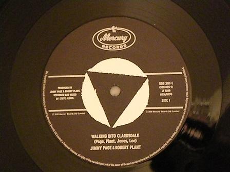 "Jimmy-Page-Robert-Plant-""Walking-into-Clarksdale""-UK-original"