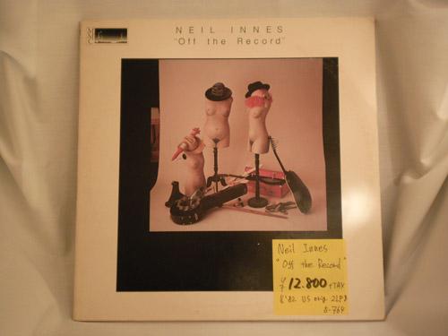 """NEILINNES-""""Off the Record""""-US '82-original-2LP"""