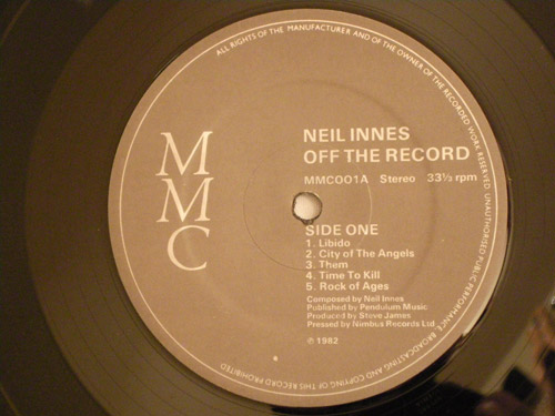 "NEILINNES-""Off the Record""-US '82-original-2LP"