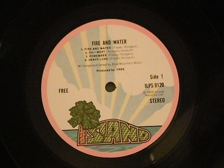 "FREE-""Fire-and-Water""-UK-original-2nd-press"