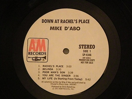 "MIKE-D'ABO-""Down-at-Rachel's-place""-US-cut"