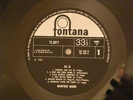 "MANFRED-MANN-""AS-IS""-UK-original-mono!"